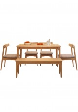 Damyan Solid Wooden Dining Table W150cm