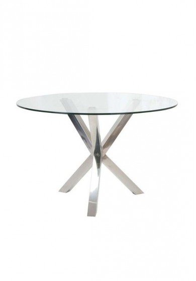 Anthony Glass Round Dining Table 119CM