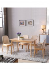 Ayla Wooden Dining Table 130cm