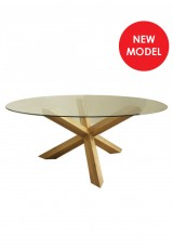 Elles Round Glass Dining Table Dia120cm