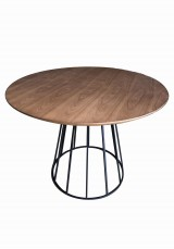 Queta Round Dining Table Wood Top 100cm