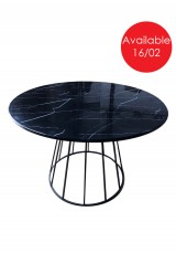 Queta Round Dining Table Stone Top 120cm