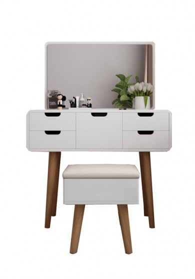 Nova Dressing Table with Mirror and Stool