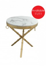 Bara Side Table - Natural Stone top