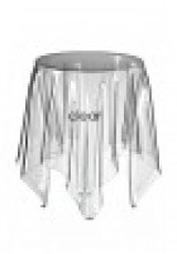Replica Essey Illusion Side Table in White 50CM
