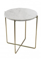 Galena Side Table Marble top