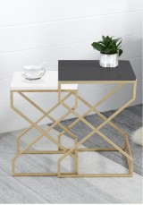 Rafik Side Table Set of Two ( 4 colours pattern option )