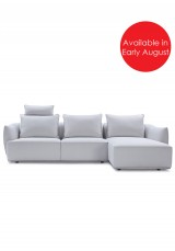 Coco Sofa with Corner Chaise Fabric Version