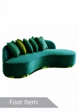 Jaron Four Seater  Curved Sofa - Fabric version