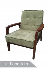 Elko One Seater sofa / armchair - Green fabric *Clearance Item*