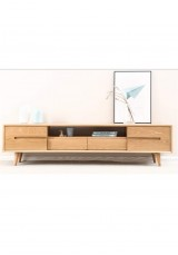 Elnora TV Cabinet W180cm - Solid Oak