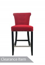 Embeth Georgian Bar Stool Red  *Clearance Item*