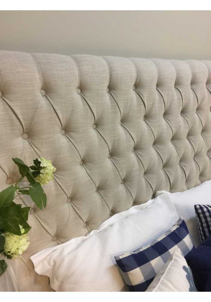 Tufted Wingback Headboard King Size