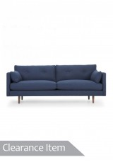 Finley Sofa three seater Blue Corduroy fabric *Clearance Item*