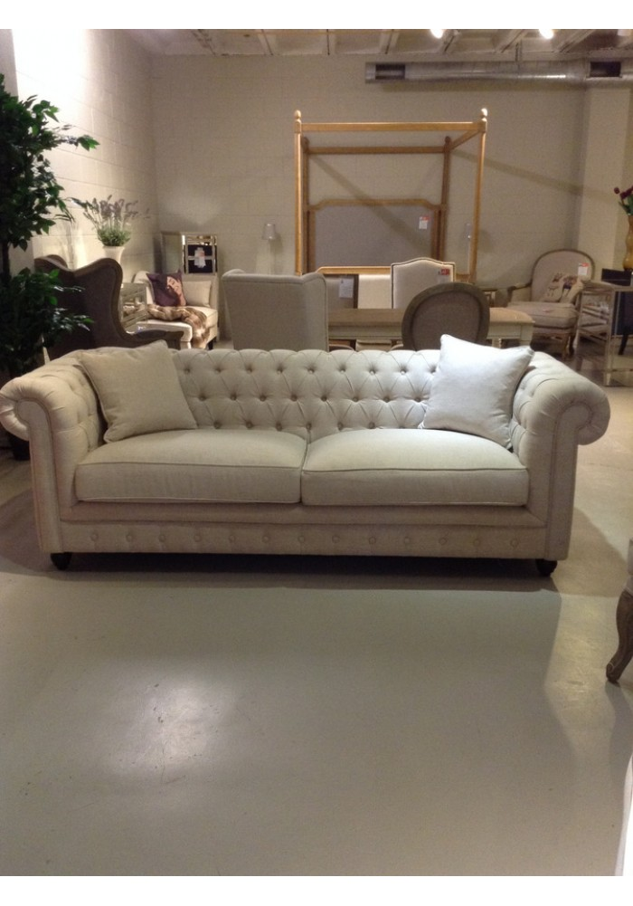 Chesterfield Sofa 3 Seater Fabric