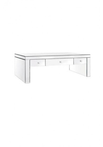 Daisey Mirrored Three Drawer Coffee Table 125cm