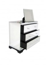 Bentley 3 Drawer Mirrored Chest 90cm