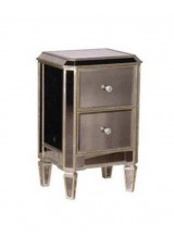 Bertha Mirrored Antique Venetian Bedside table