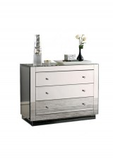 Bianca 3 Drawer Mirrored Chest W80cm