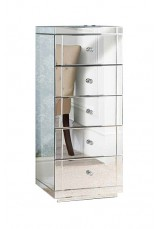 Bianca 5 Drawer Mirrored Chest