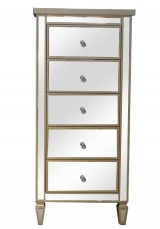 Chelsea Mirrored Tallboy W57cm