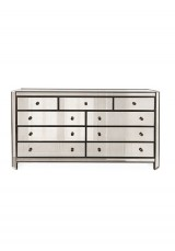 Cara 9 Drawer Mirrored Chest 130cm
