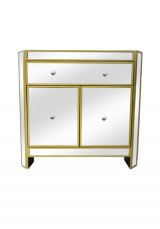 Cara Mirrored Sideboard Small W73