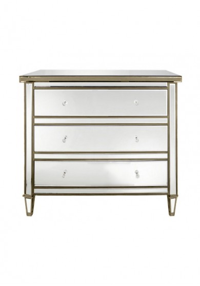 Chelsea Mirrored 3 Drawer Chest W85cm