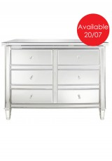 Chelsea Mirrored 6 Drawer Chest 120W