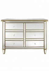 Chelsea Mirrored 6 Drawer Chest W120cm