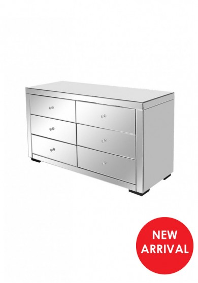 Daisey Mirrored 6 Drawer Chest W125cm