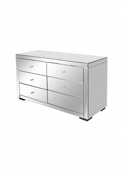 Daisey Mirrored 6 Drawer Chest 125cm *Floor Item*