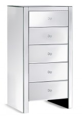 Daisey Mirrored Tallboy 5 Drawers