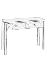 Tenley  Mirrored Dressing Table 102cm