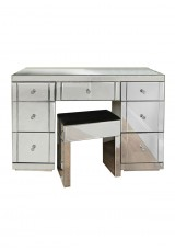 Fatima Mirrored Desk W135cm with stool