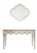Kyrie Mirrored Dressing / Console Table with Mirror