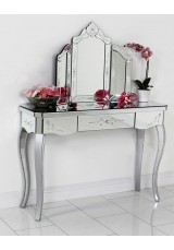 Rascati Mirrored Patterned Dressing Table 115cm