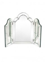 Janine Venetian Shaped 3 Way Fold Dressing Mirror