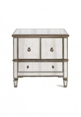 Belen Mirrored Antique Style Cabinet - Large W80cm