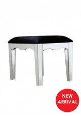 Bonnie Large Mirrored Stool