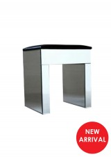 Flora  Mirrored Dressing Table Stool