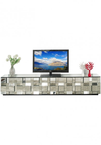Daemyn Mirrored TV Cabinet W200cm