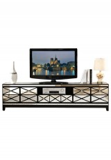 Dafydd Mirrored TV Cabinet W200cm