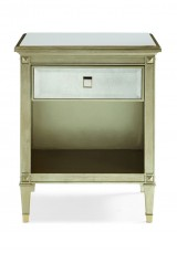 Alyna Mirrored Bedside Table W50