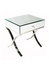 Barcelona Mirrored Bedside Table 52cm
