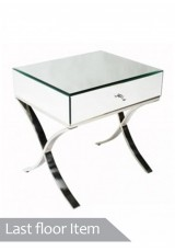Barcelona Mirrored Bedside Table 52cm *Last Floor Item*