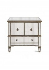 Belen Mirrored Antique Style Bedside Table W60cm