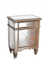 Borgess Mirrored Bedside Table 45cm