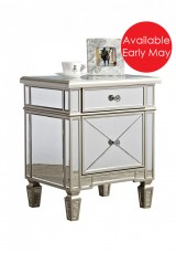 Borgess Mirrored Bedside Table W60cm