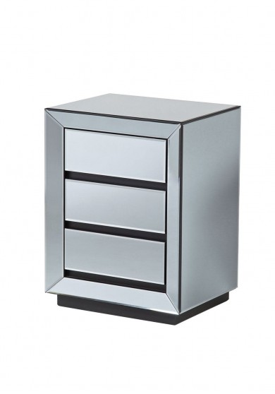 Mirano Mirrored Bedside Table W46cm
